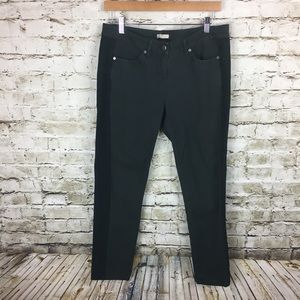 Eileen Fisher charcoal gray and black denim pants